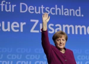 梅克爾確定4度連任德國總理 與社民黨組成聯合政府
