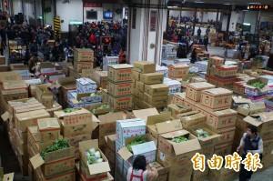菜價暴跌引農怨 北農新聞稿宣布:8日開市後全停休