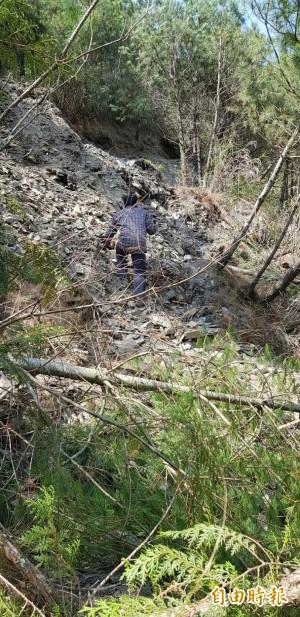 能高越嶺西段路基沈陷   林務局全面封閉搶修