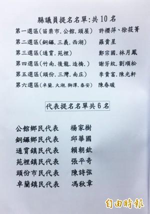 民進黨苗栗縣議員、代表提名人選出爐 泰安鄉長徵召盧光明