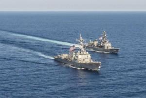 向中示威?美驅逐艦直駛南海 離爭議島礁不到12海浬