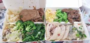 夾兩盒自助餐600元 網友直呼:都可以去吃到飽餐廳了