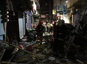 三重民宅凌晨發生氣爆 1死1命危5傷