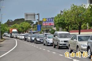 連假第3天 台南這路段還是壅塞