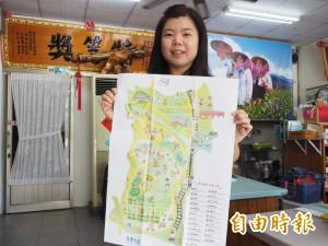 茶農第三代劉倚瑩變身插畫家 畫出在地店家特色