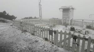 對流旺、水氣足 玉山狂瀉小冰雹