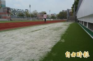 新田徑場啟用滿地砂 台中大里運動公園挨批施工草率