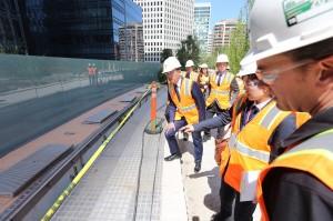竹市長林智堅舊金山灣區轉運中心取經 做新竹大車站計畫參考