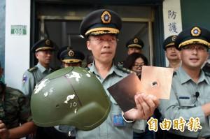 新式頭盔「膨風」? 軍方公開測試:同級防護力最強