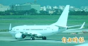 白帥帥無塗裝 張榮發「總裁專機」今交機飛離台灣