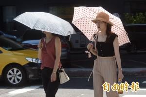 記得帶傘!明高溫飆36度 嚴防午後雷陣雨