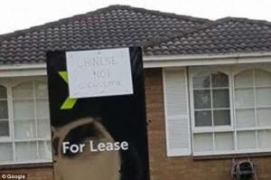 「不歡迎中國人!」澳洲租屋掛反華標語惹議