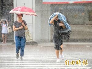 明天全台下大雨! 全台慎防強陣雨跟強陣風