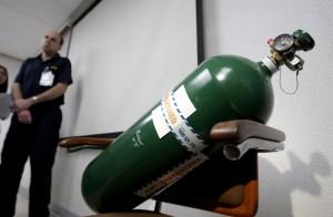 驚悚!失手摔落氧氣瓶釀爆炸  工人當場遭炸飛慘死