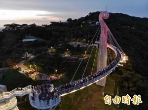 崗山之眼天空廊道 暑假週休開放至晚上7點