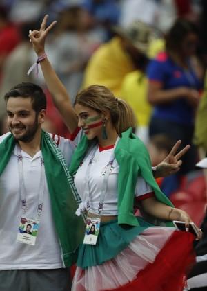 拋開頭巾!伊朗正妹球迷替世足國家隊加油引瘋傳