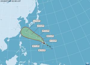 7縣市大雨特報!瑪莉亞轉中颱、下週二最接近台灣