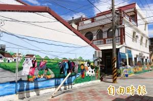 屏東潮州檨子里彩繪村 拍照打卡還能「挽檨子」