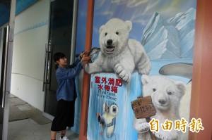 小企鵝拿水帶 北極熊創意彩繪消防栓超吸睛