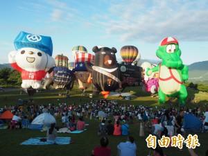 「喔熊」背上阿美族情人袋  超萌熱氣球亮相!