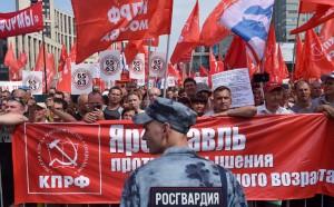 莫斯科萬人上街 抗議延後退休金請領年齡