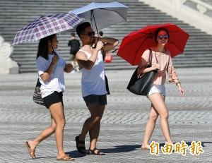 明天「燒滾滾」 氣象局針對8個縣市發布高溫警示
