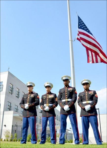 首度比照海外使領館 美陸戰隊9月進駐AIT