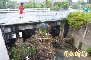 雜物堆積快跟橋墩一般高  地方憂水患「挫咧蛋」