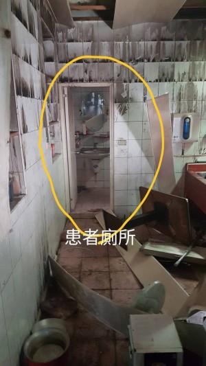 八里火警現場曝光 疑2樓神明桌起火燒至3樓