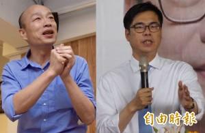 高市長選戰 本報民調:陳其邁38.46% 韓國瑜26.32%