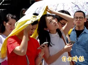 未來一週晴朗炎熱 明高溫36度 嚴防午後雷陣雨
