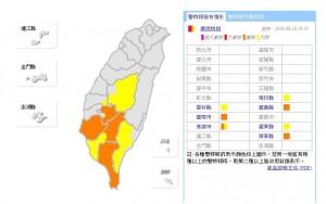 高雄時雨量破80毫米 中南部7縣市發布豪、大雨特報