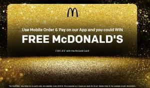 麥當勞推24K金卡   持卡人免費吃餐點50年
