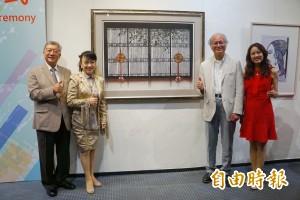 旅日藝人翁倩玉版畫大作 與126位名家在竹縣聯展