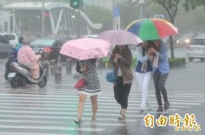 雨勢警戒升級 全台17縣市發布豪、大雨特報!