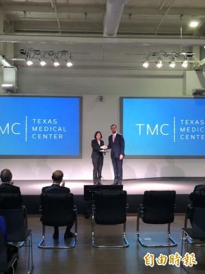 總統赴德州醫學中心新創基地參訪 結束行程準備返國