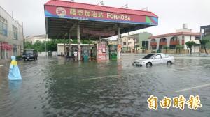 台南淹慘 172線新營鹽水交通中斷、麻善大橋封閉