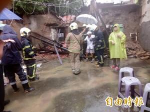 大雨傾倒 高市鳳山1房屋坍塌 84歲老翁被救出