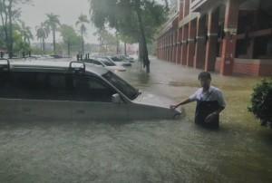 86部車泡水、災損逾4700萬    華醫校園清理完成
