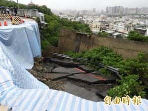 壽山動物園聯外道路崩塌 暫停開放1至2週