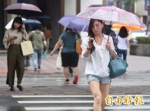 西南風減弱降雨空檔增 各地防午後雷陣雨