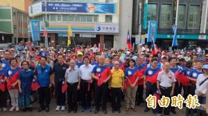 竹市藍營「愛國旗」活動  謝文進、許明財同框