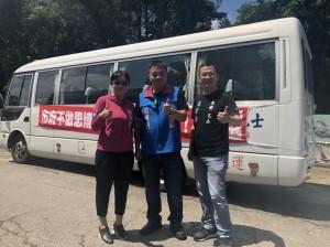 「嗆聲公車」抵台南 羅智強:要讓更多人知道災民痛苦