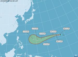 「山竹」下週末接近台灣 吳德榮:可能是今年最強颱風