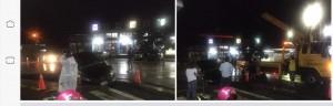 雨後傳南州馬路也吃車? 警方:工程開挖交維不足