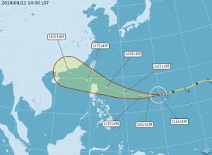強颱山竹威力再增強 週六東半部及屏東嚴防劇烈風雨