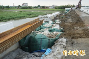 豆腐渣工程?舊虎尾溪外堤坍塌 要查設計或施工出包