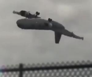 波音747被山竹吹得360度轉? 影片遭踢爆是假新聞