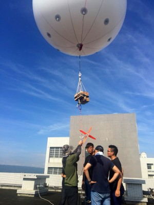 中火是南投縣空污元凶? 草屯、埔里繫留氣球升空觀測