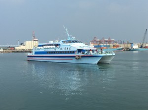 滿天星1號搭載踩線團 台中港啟航澎湖觀光